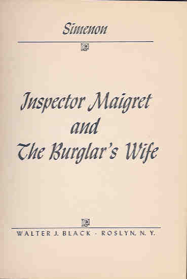 Image for Inspector Maigret and the Burglar's Wife