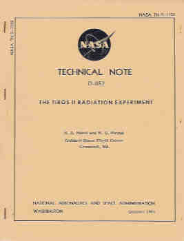 Image for The Tiros II Radiation Experiment  (NASA TN D-1152)