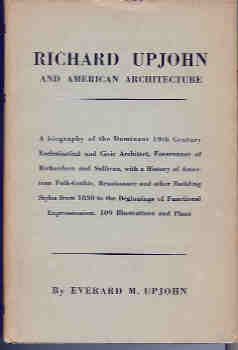 Image for Richard Upjohn: Architect and Churchman