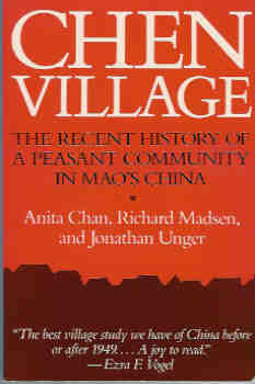 Image for Chen Village: The Recent History of a Peasant Community in Mao's China