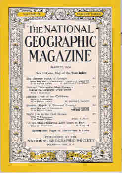 Image for National Geographic March 1954, Vol. CV, No. Three