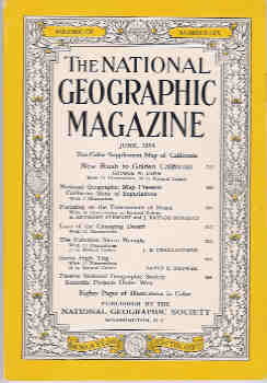 Image for National Geographic June 1954, Vol. CV, No. Six