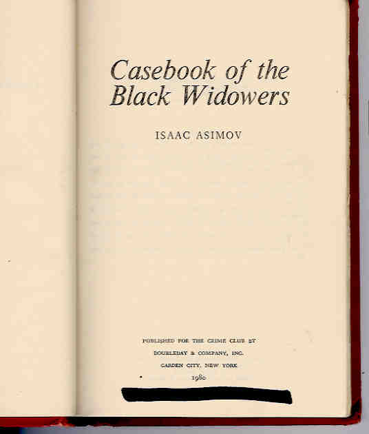 Image for Casebook of the Black Widowers