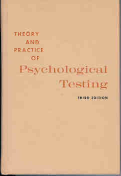 Image for Theory and Practice of Psychological Testing (Third Edition)