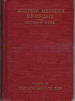 Image for Auction Methods Up-To-Date (Including the New Laws of 1920)