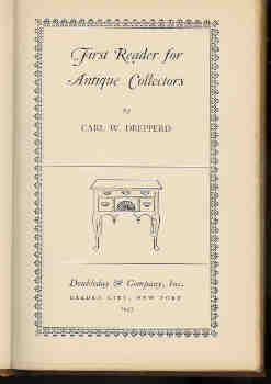 Image for First Reader for Antique Collectors