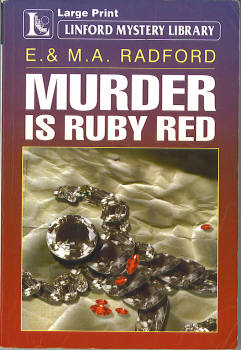 Image for Murder Is Ruby Red (Large Print)