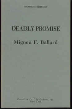Image for Deadly Promise: A Novel of Suspense
