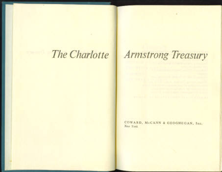 Image for The Charlotte Armstrong Treasury (The Witch's House; Mischief; The Dream Walker)