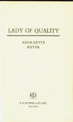 Image for Lady of Quality