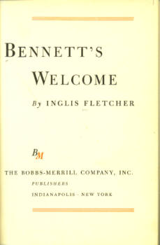 Image for Bennett's Welcome