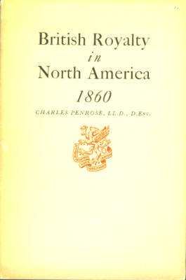 Image for British Royalty in North America 1860